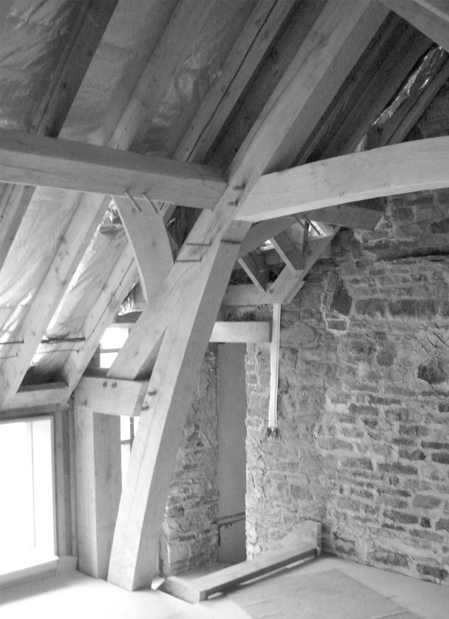 Tanyard Farm - First floor during construction L7