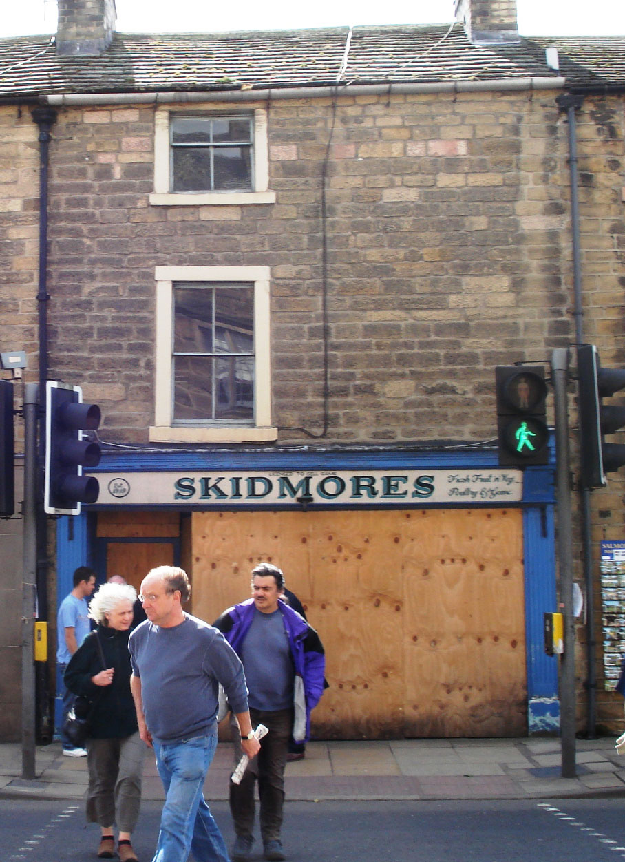 C2 Skidmores - Bakewell - Shop front before works L2