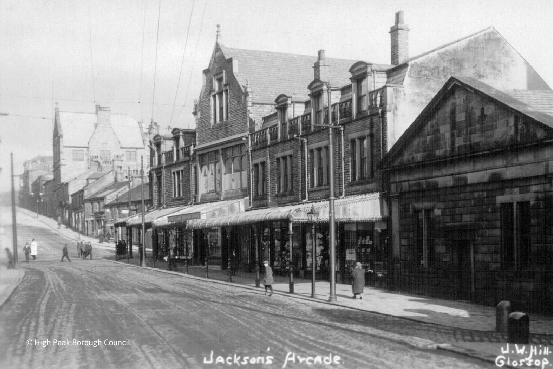 The Jackson Buildings - Glossop - Historic image ©HPBC L1