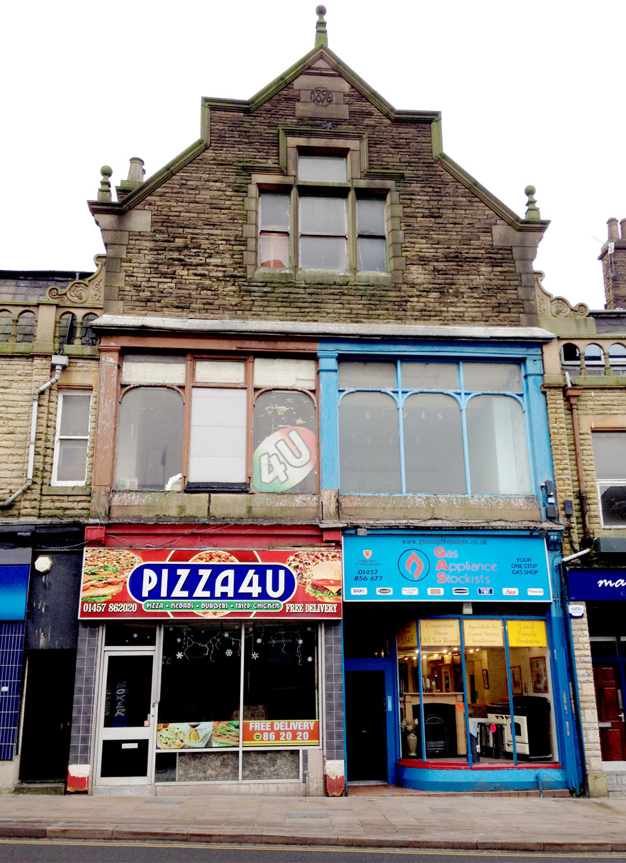 The Jackson Buildings - Glossop - Main elevation before works L2