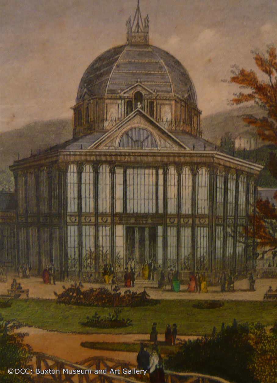 The Octagon - Pavilion Gardens - Postcard J. C. Bates 1876 engraving by Newman L2
