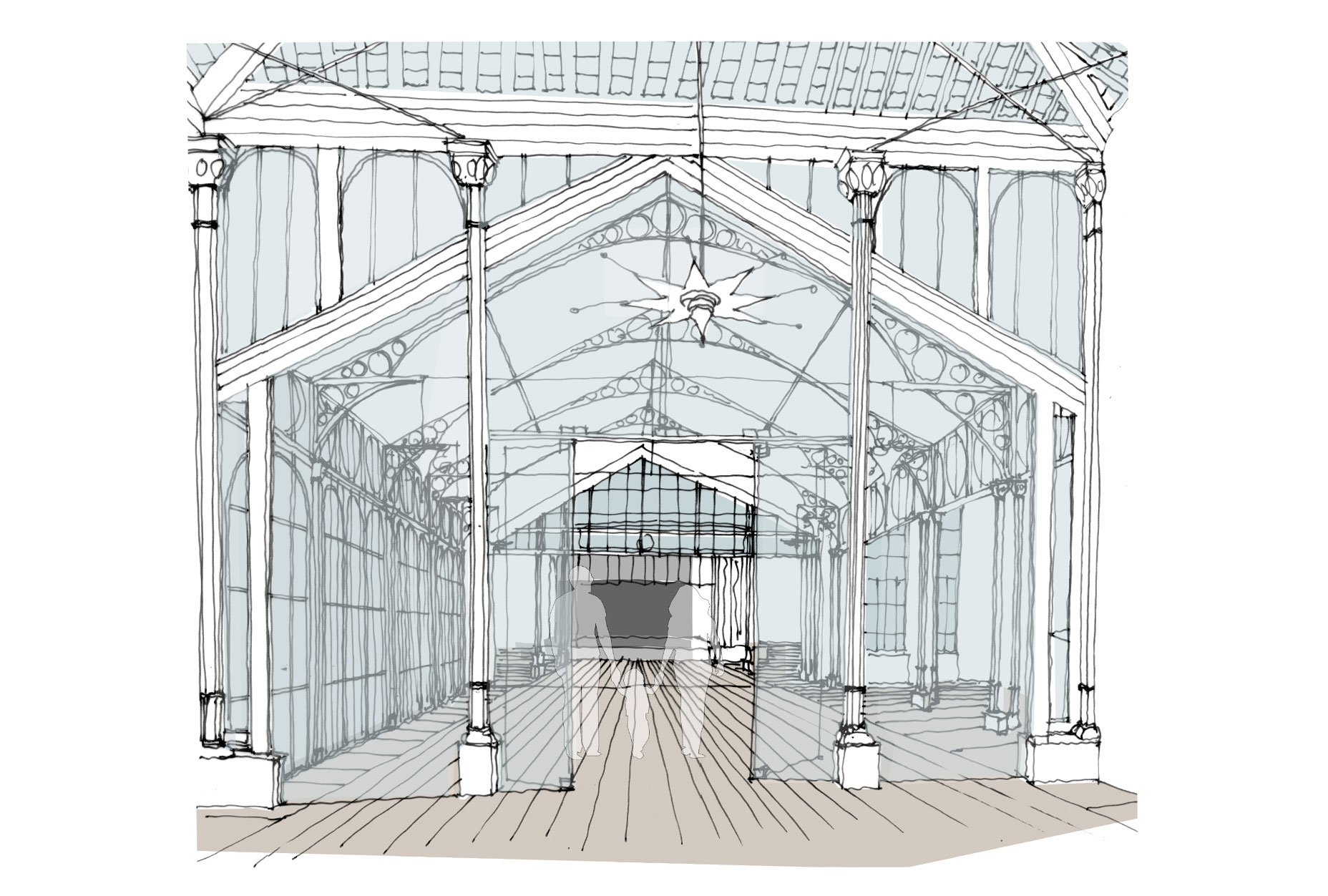 The Octagon - Pavilion Gardens - West Pavilion proposed drawings L14