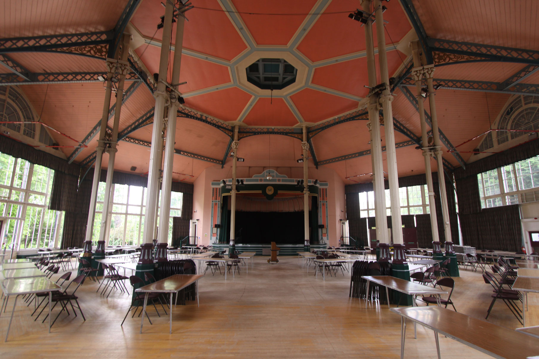 The Octagon - Pavilion Gardens - Concert Hall before works L6