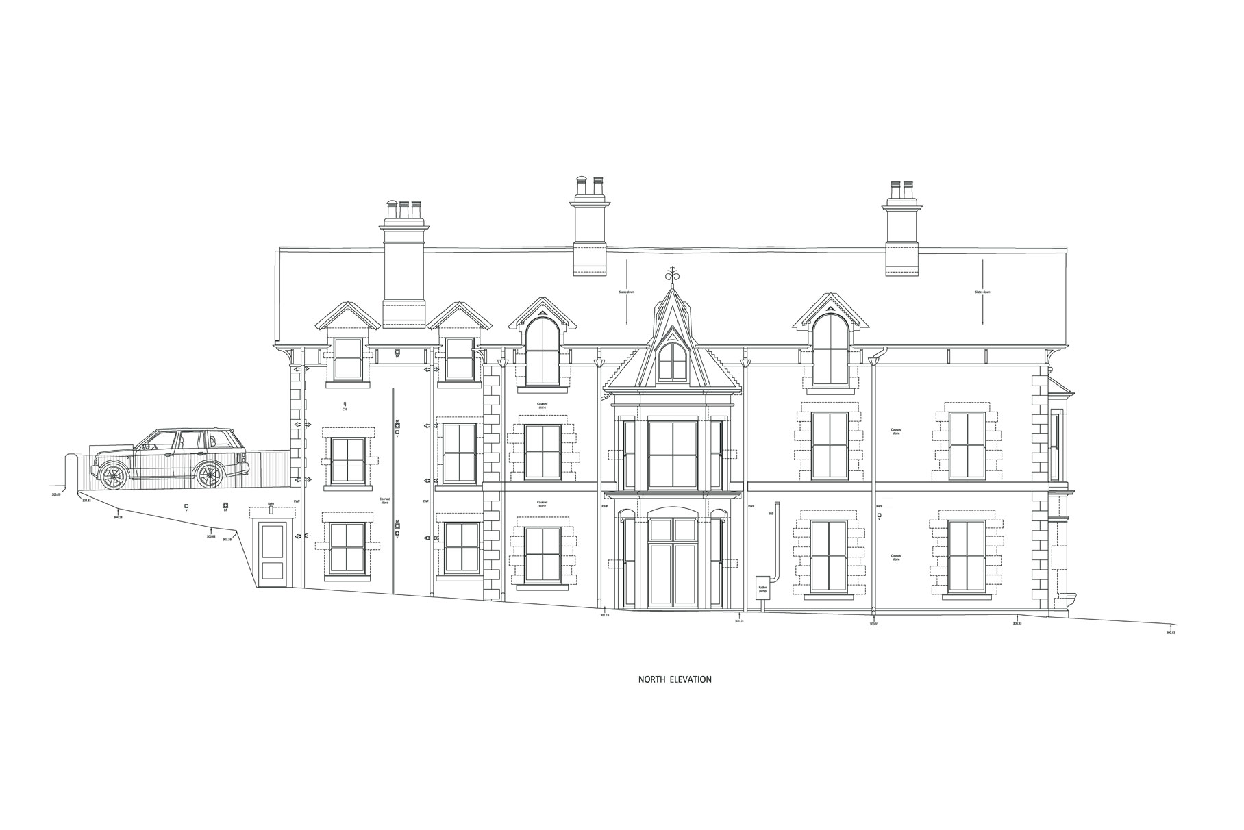 Derby House - Elevations and Plan L3