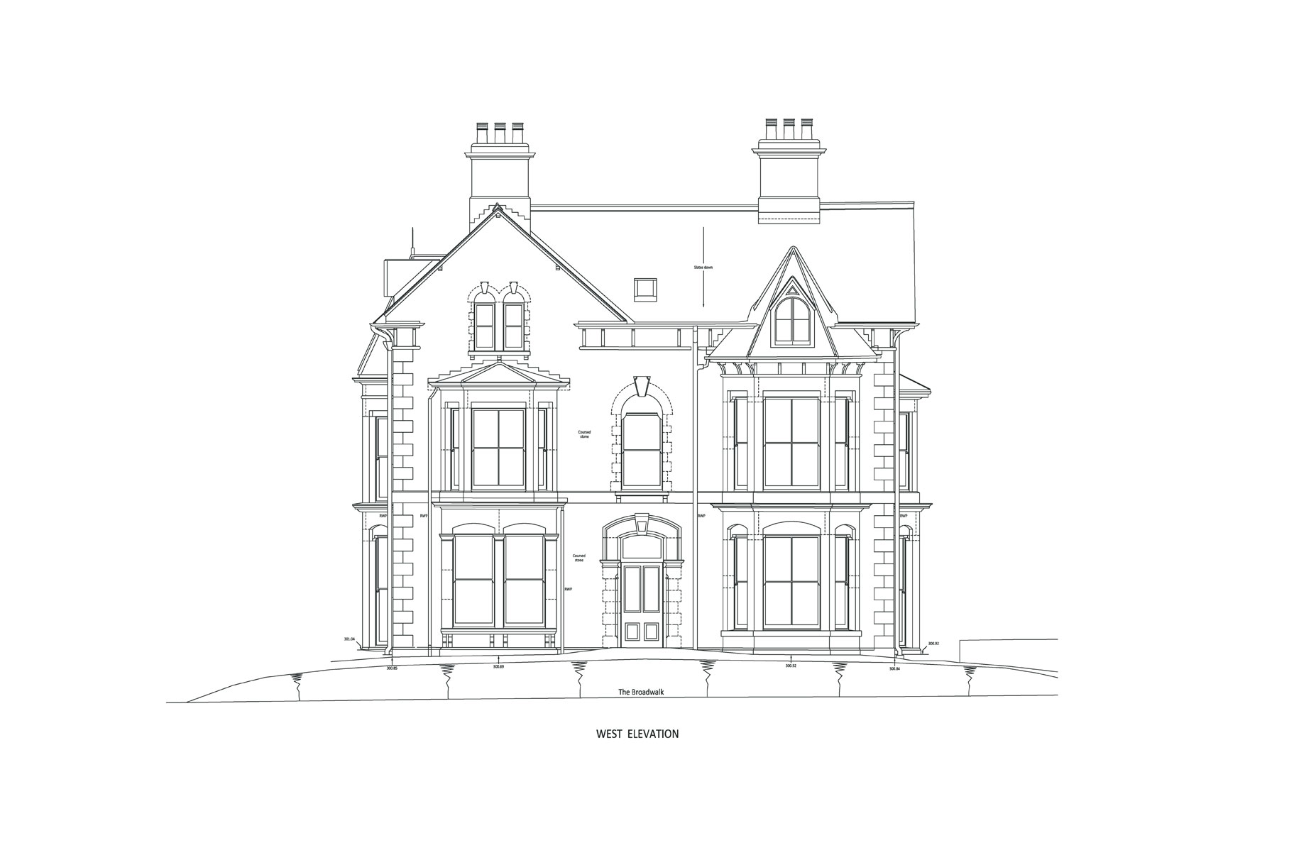 Derby House - West Elevation