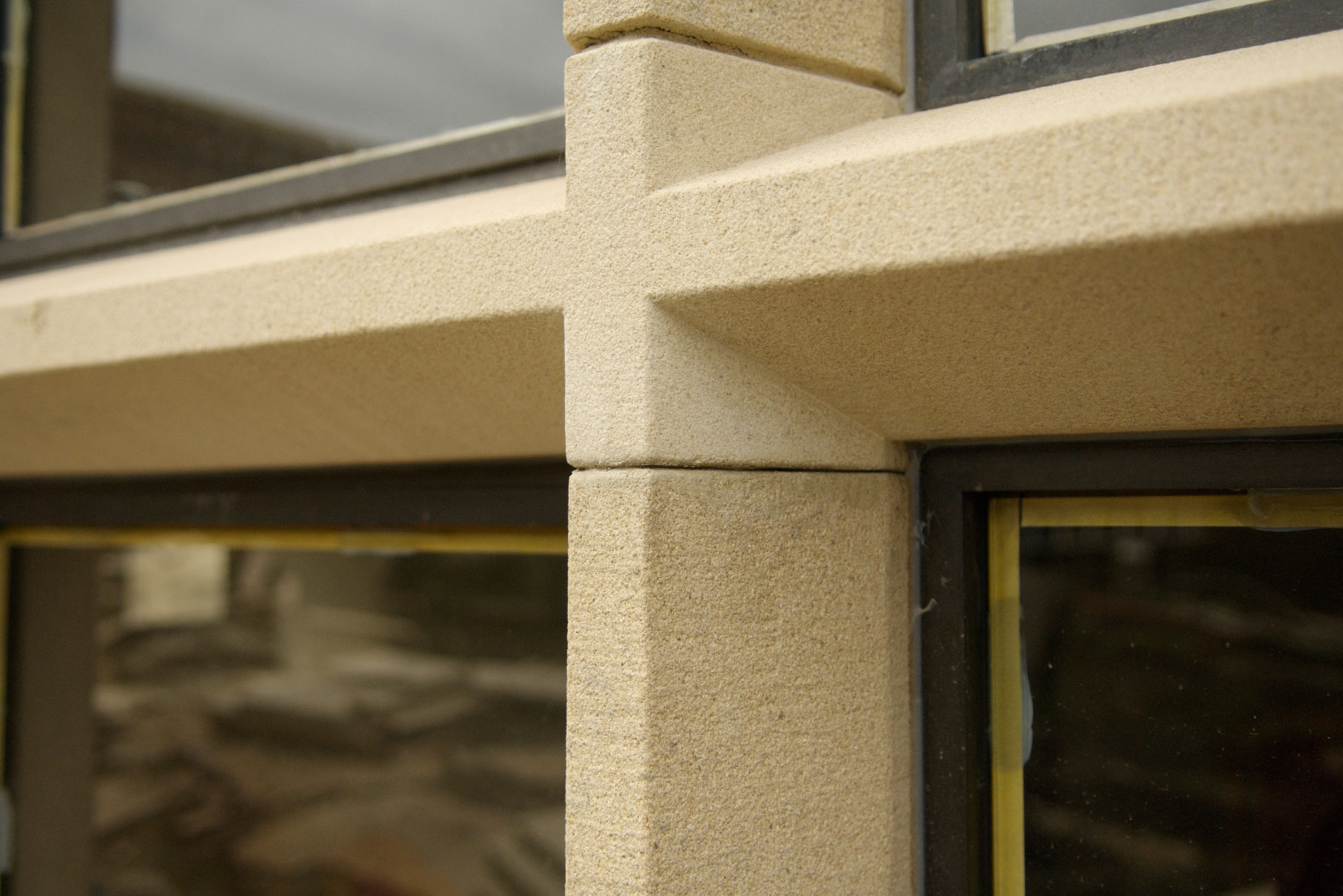 Offerton Hall - Hathersage -  Window detail during construction L2