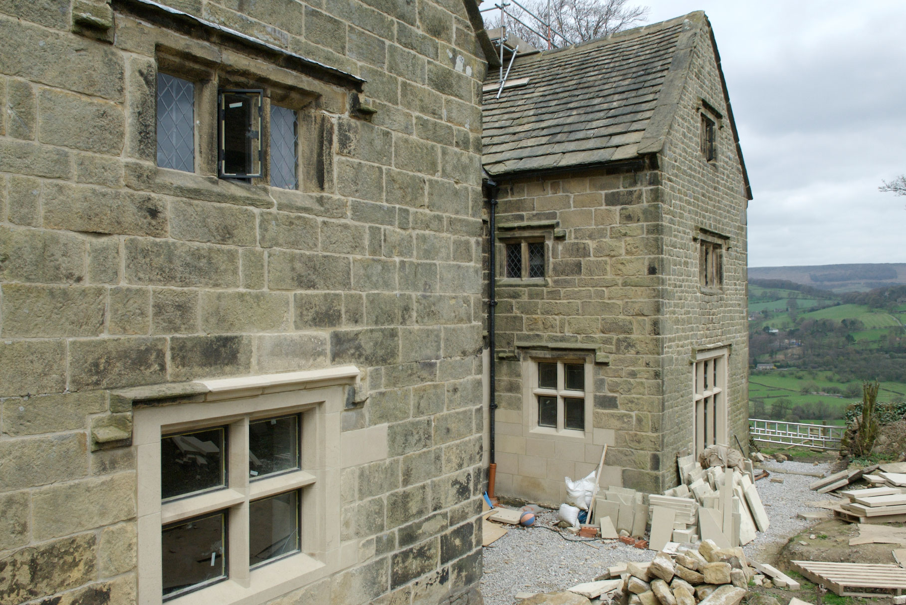 Offerton Hall - Hathersage -  East elevation during construction L2