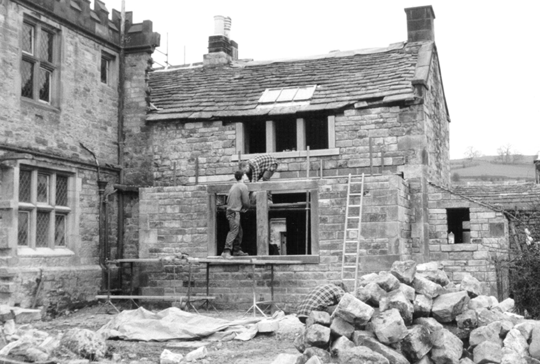 Snitterton Hall - Matlock - East elevation during works L10